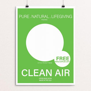 "If clean air was a product. by DeAndre Cruse 12"" by 16"" Print / Unframed Print Creative Action Network"