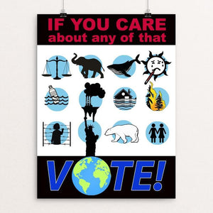 "If You Care by Yael Pardess 12"" by 16"" Print / Unframed Print Creative Action Network"