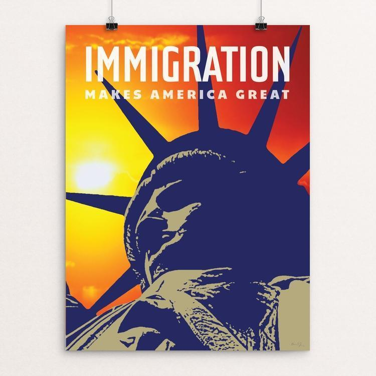 "Immigration by Chris Lozos 12"" by 16"" Print / Unframed Print What Makes America Great"