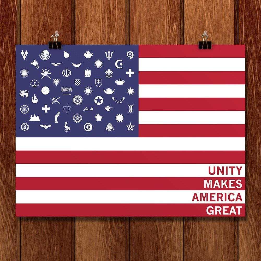 "Immigration by Wyatt Roy 12"" by 16"" Print / Unframed Print What Makes America Great"