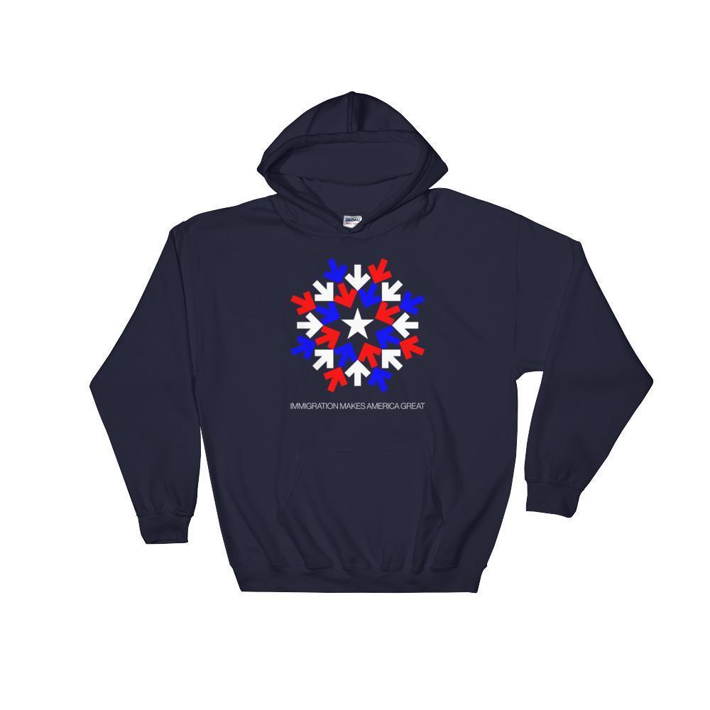 Immigration Hoodie by Gabriel Benderski Black / S Hoodie What Makes America Great