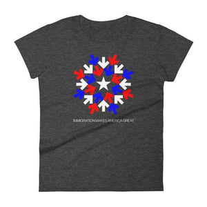 Immigration T-Shirt by Gabriel Benderski S / Women's T-Shirt What Makes America Great