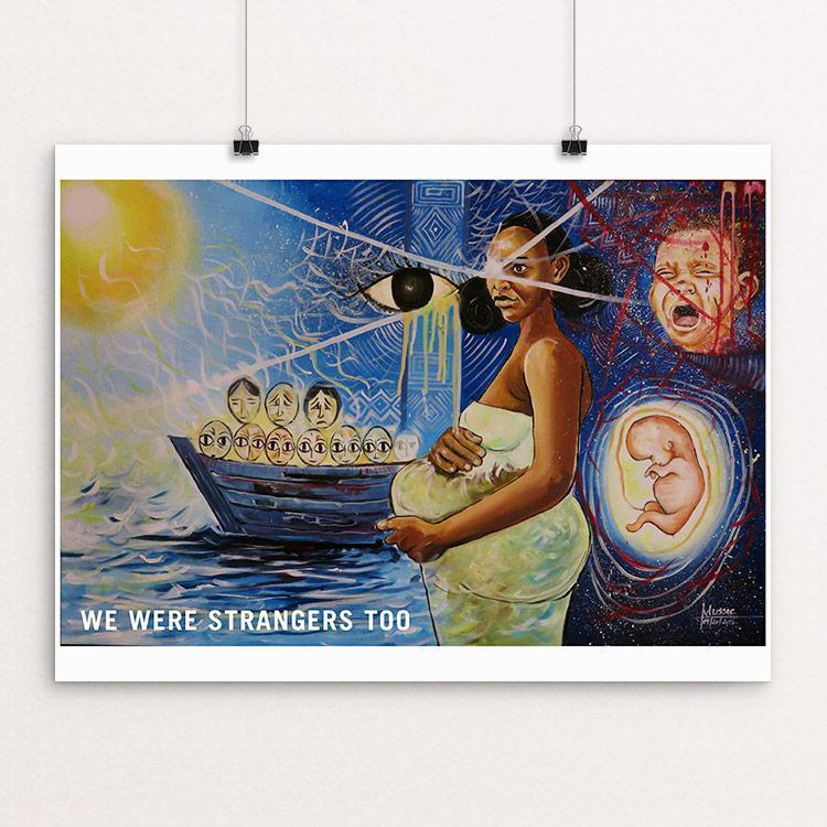 "In our eyes by Mussie Tsighe 12"" by 16"" Print / Unframed Print We Were Strangers Too"