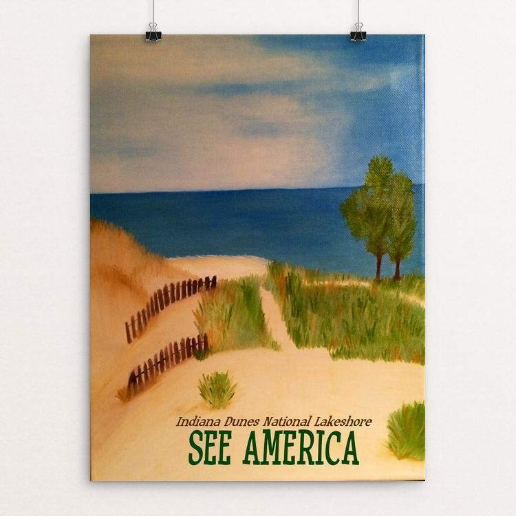 "Indiana Dunes National Lakeshore by Bryan Bromstrup 12"" by 16"" Print / Unframed Print See America"