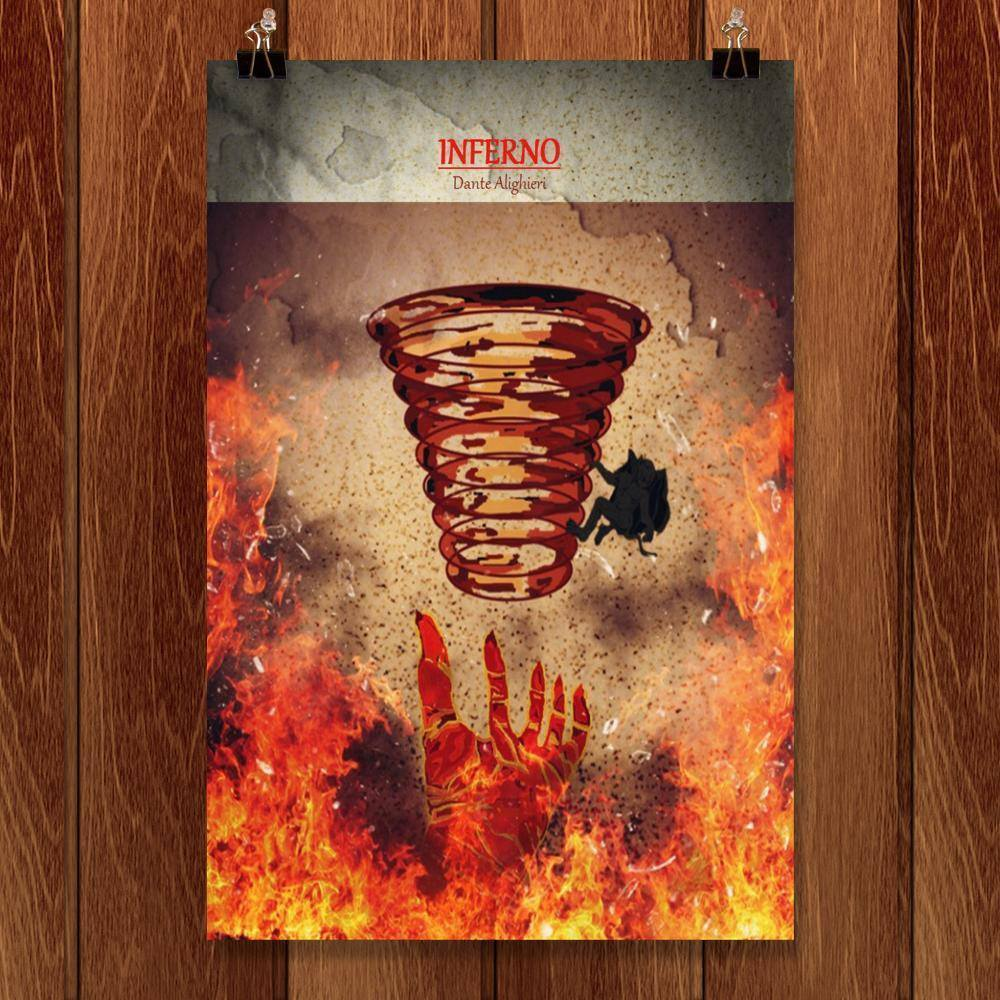 "Inferno by Bryan Bromstrup 12"" by 18"" Print / Unframed Print Recovering the Classics"