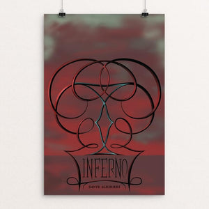 "Inferno by Colt Barron 12"" by 18"" Print / Unframed Print Recovering the Classics"