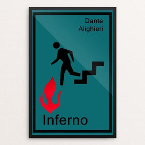 "Inferno by Jeff Shea 12"" by 18"" Print / Framed Print Recovering the Classics"