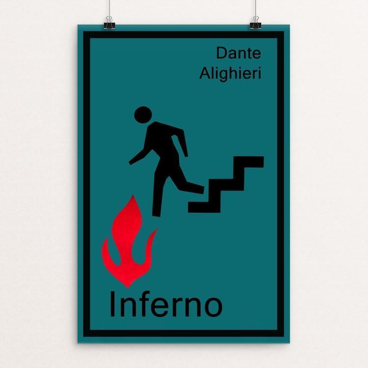 "Inferno by Jeff Shea 12"" by 18"" Print / Unframed Print Recovering the Classics"