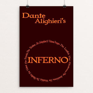 "Inferno by Kenneth Pelletier 12"" by 18"" Print / Unframed Print Recovering the Classics"