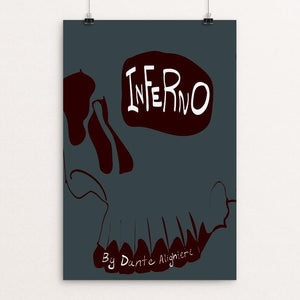 "Inferno by Montana Laschanzky 12"" by 18"" Print / Unframed Print Recovering the Classics"
