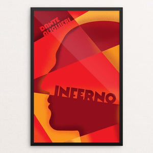 "Inferno by Roberlan Borges 12"" by 18"" Print / Framed Print Recovering the Classics"