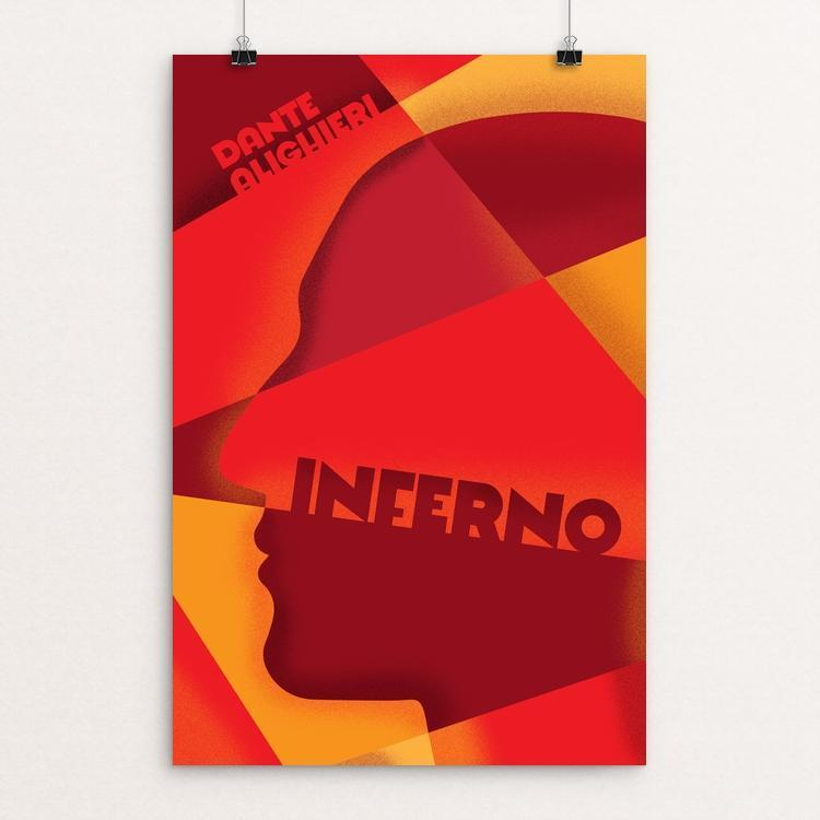 "Inferno by Roberlan Borges 12"" by 18"" Print / Unframed Print Recovering the Classics"