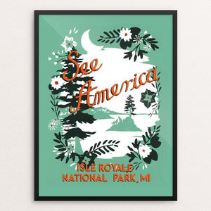 "Isle Royale National Park by Esther Licata 18"" by 24"" Print / Framed Print See America"