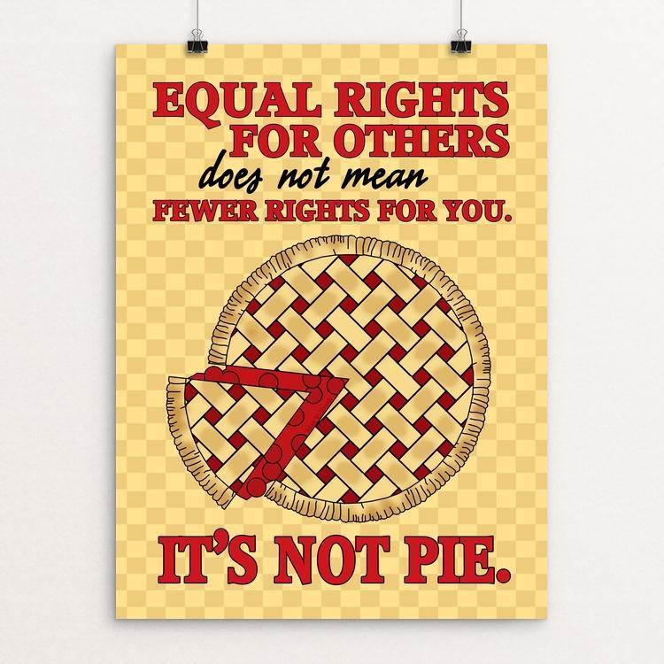 "It's Not Pie by Lisa Vollrath 12"" by 16"" Print / Unframed Print Creative Action Network"
