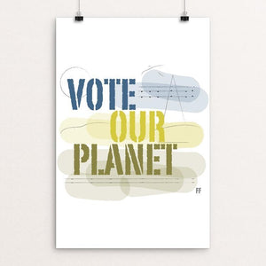 "It's Time. by Kimberly Findlay 12"" by 18"" Print / Unframed Print Vote Our Planet"