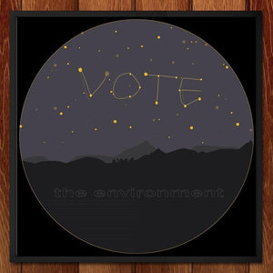 "It's Written In the Stars! by Em 12"" by 12"" Print / Framed Print Vote the Environment"