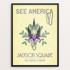 "Jackson Square, New Orleans by Cassandra Donner 12"" by 16"" Print / Framed Print See America"