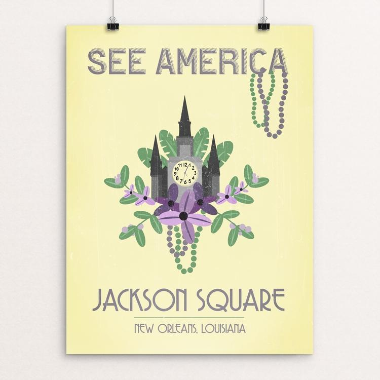 "Jackson Square, New Orleans by Cassandra Donner 12"" by 16"" Print / Unframed Print See America"
