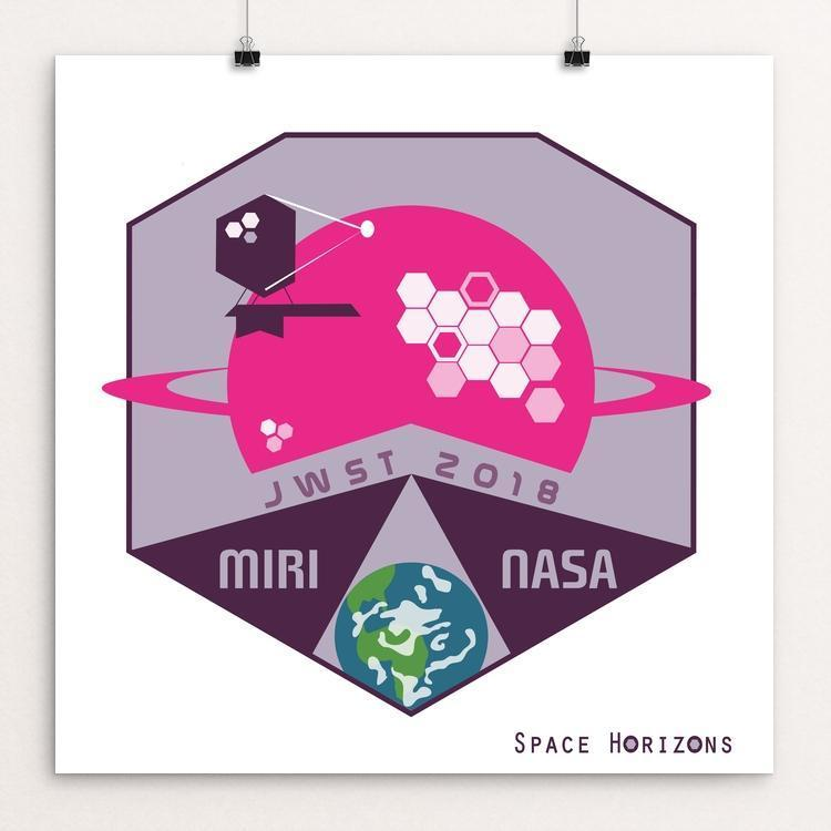 "James Webb Space Telescope-MIRI by Laura Montgomery 12"" by 12"" Print / Unframed Print Space Horizons"