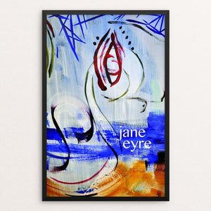 "Jane Eyre 1 by Shania Metcalf 12"" by 18"" Print / Framed Print Recovering the Classics"