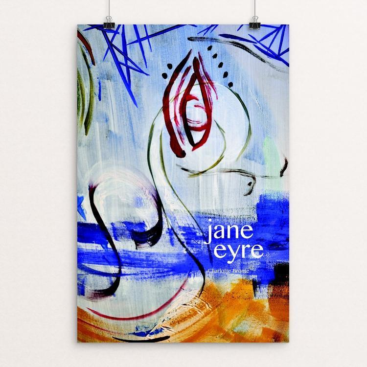 "Jane Eyre 1 by Shania Metcalf 12"" by 18"" Print / Unframed Print Recovering the Classics"