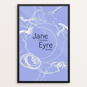 "Jane Eyre 2 by Shania Metcalf 12"" by 18"" Print / Framed Print Recovering the Classics"