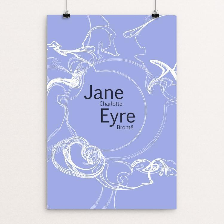 "Jane Eyre 2 by Shania Metcalf 12"" by 18"" Print / Unframed Print Recovering the Classics"