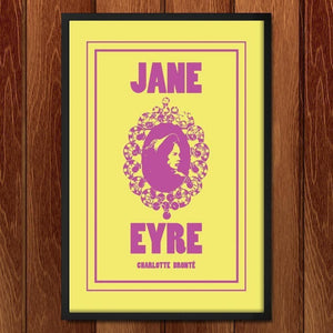 "Jane Eyre by Emily Rose Halpern 12"" by 18"" Print / Framed Print Recovering the Classics"