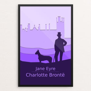"Jane Eyre by Meredith Watson 12"" by 18"" Print / Framed Print Recovering the Classics"