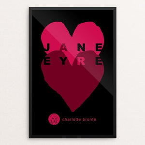 "Jane Eyre by Robert Wallman 12"" by 18"" Print / Framed Print Recovering the Classics"