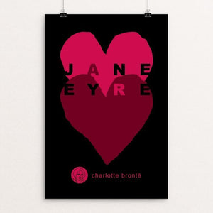 "Jane Eyre by Robert Wallman 12"" by 18"" Print / Unframed Print Recovering the Classics"