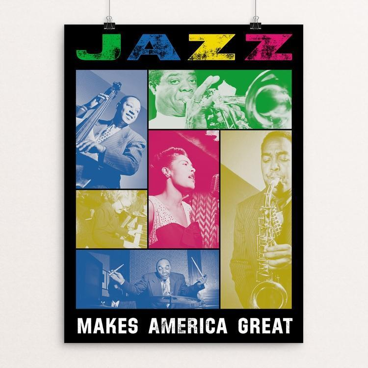 "Jazz by Aaron Perry-Zucker 12"" by 16"" Print / Unframed Print What Makes America Great"