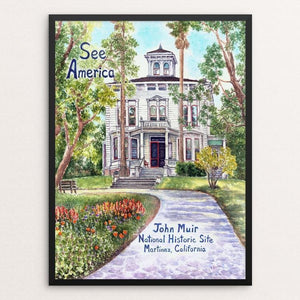 "John Muir National Historic Site by Elizabeth Kennen 12"" by 16"" Print / Framed Print See America"
