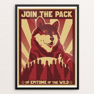 "Join the Pack by Michael Czerniawski 18"" by 24"" Print / Framed Print Join the Pack"