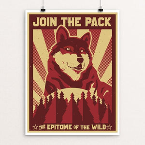 "Join the Pack by Michael Czerniawski 18"" by 24"" Print / Unframed Print Join the Pack"