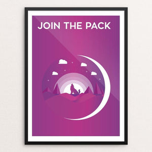 "Join the Pack by Oussama Zouaimia 12"" by 16"" Print / Framed Print Join the Pack"