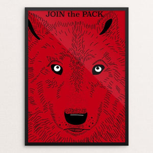 "Join the Pack by Sarah Lane 12"" by 16"" Print / Framed Print Join the Pack"