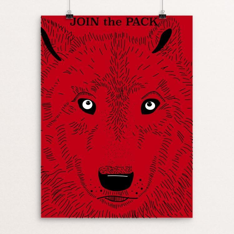 "Join the Pack by Sarah Lane 12"" by 16"" Print / Unframed Print Join the Pack"
