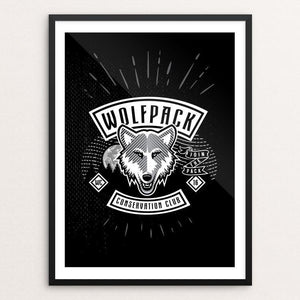 "Join The Pack by Tim Burke 12"" by 16"" Print / Framed Print Join the Pack"
