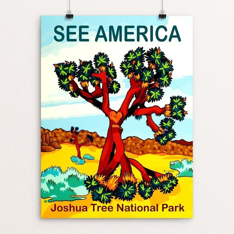 "Joshua Tree National Park by Cheryl Kandel Gimson 18"" by 24"" Print / Unframed Print See America"