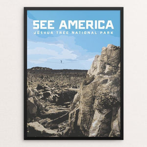 "Joshua Tree National Park by Justin Beaulieu 12"" by 16"" Print / Framed Print See America"