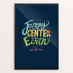 "Journey to the Center of the Earth by Amanda Collins 12"" by 18"" Print / Framed Print Recovering the Classics"