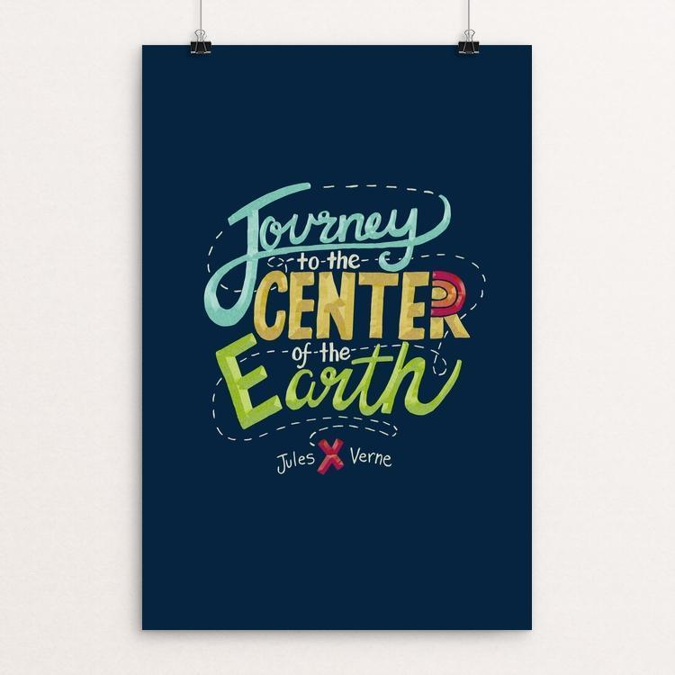 "Journey to the Center of the Earth by Amanda Collins 12"" by 18"" Print / Unframed Print Recovering the Classics"