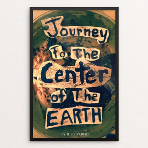 "Journey to the Center of the Earth by Holden Oelke 12"" by 18"" Print / Framed Print Recovering the Classics"