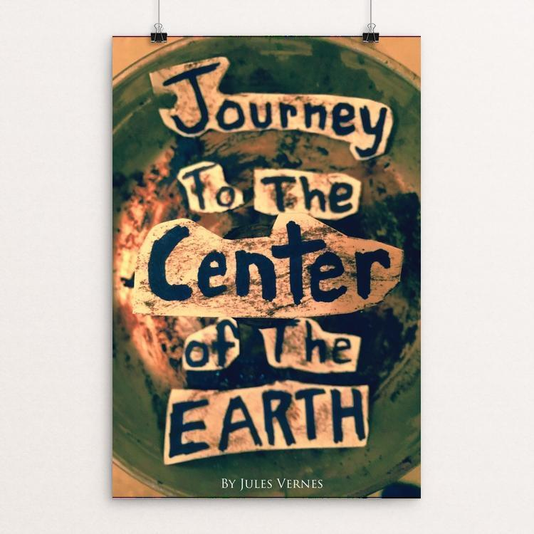 "Journey to the Center of the Earth by Holden Oelke 12"" by 18"" Print / Unframed Print Recovering the Classics"