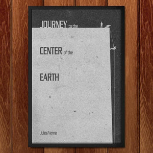 "Journey to the Center of the Earth by J.R.J Sweeney 12"" by 18"" Print / Framed Print Recovering the Classics"