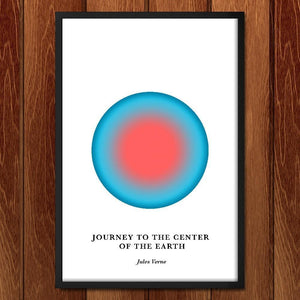 "Journey to the Center of the Earth by Janet Wright 12"" by 18"" Print / Framed Print Recovering the Classics"