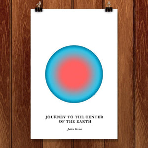 "Journey to the Center of the Earth by Janet Wright 12"" by 18"" Print / Unframed Print Recovering the Classics"