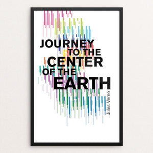 "Journey to the Center of the Earth by Michelle Martinez 12"" by 18"" Print / Framed Print Recovering the Classics"