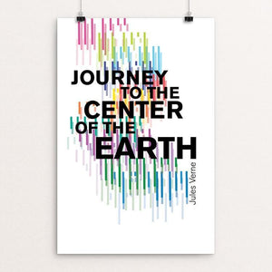 "Journey to the Center of the Earth by Michelle Martinez 12"" by 18"" Print / Unframed Print Recovering the Classics"